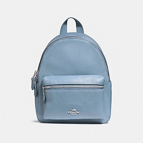 COACH f38263 MINI CHARLIE BACKPACK SILVER/DUSK 2