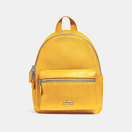 COACH f38263 MINI CHARLIE BACKPACK CANARY 2/SILVER