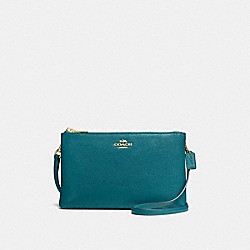 LYLA CROSSBODY IN PEBBLE LEATHER - f38273 - IMITATION GOLD/ATLANTIC