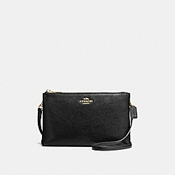 LYLA CROSSBODY IN PEBBLE LEATHER - f38273 - IMITATION GOLD/BLACK