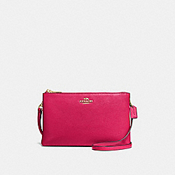 COACH F38273 Lyla Crossbody In Pebble Leather IMITATION GOLD/BRIGHT PINK