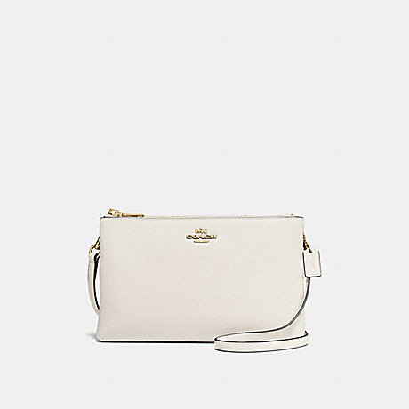 COACH F38273 LYLA CROSSBODY IN PEBBLE LEATHER IMITATION-GOLD/CHALK