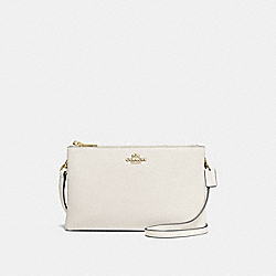 LYLA CROSSBODY IN PEBBLE LEATHER - f38273 - IMITATION GOLD/CHALK