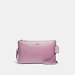 LYLA CROSSBODY IN PEBBLE LEATHER - f38273 - SILVER/LILAC