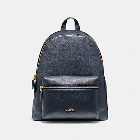 COACH f38288 CHARLIE BACKPACK MIDNIGHT/LIGHT GOLD