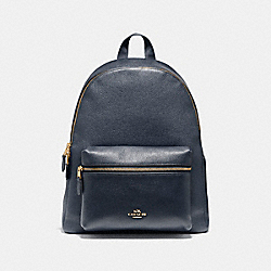 COACH CHARLIE BACKPACK - MIDNIGHT/LIGHT GOLD - F38288