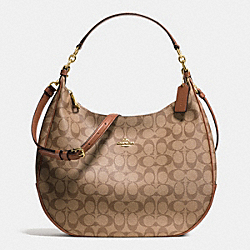 COACH F38300 Harley Hobo In Signature IMITATION GOLD/KHAKI/SADDLE