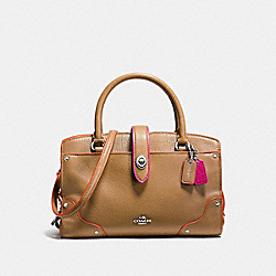 COACH F38318 - MERCER SATCHEL 24 IN EDGESTAIN LEATHER SILVER/WALNUT TRICOLOR