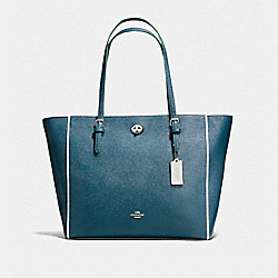 COACH F38323 - TURNLOCK TOTE SV/MINERAL MULTI
