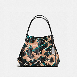 EDIE SHOULDER BAG 31 - f38332 - SCATTERED LEAF/WALNUT MULTI/DARK GUNMETAL