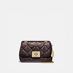 CASSIDY CROSSBODY WITH QUILTING - F38340 - OXBLOOD 1/LIGHT GOLD