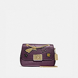COACH F38341 - CASSIDY CROSSBODY WITH STAR EMBELLISHMENTS METALLIC RASPBERRY/LIGHT GOLD