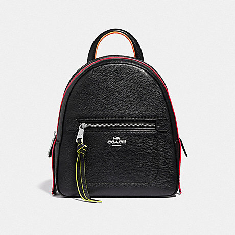COACH F38348 ANDI BACKPACK BLACK/MULTI/SILVER