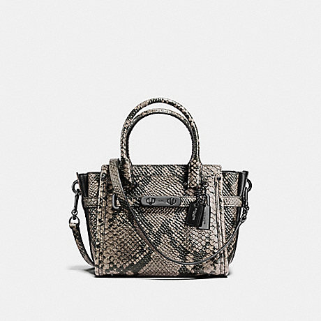 COACH f38360 COACH SWAGGER 27 NATURAL/DARK GUNMETAL