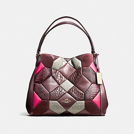 21677a8edf COACH EDIE SHOULDER BAG 31 IN CANYON QUILT EXOTIC EMBOSSED LEATHER