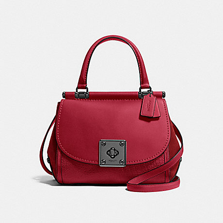 COACH f38388 DRIFTER TOP HANDLE Cherry/Dark Gunmetal