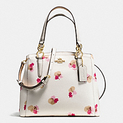 MINETTA CROSSBODY IN FIELD FLORA PRINT COATED CANVAS - f38417 - IMITATION GOLD/CHALK MULTI