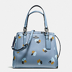 MINETTA CROSSBODY IN FIELD FLORA PRINT COATED CANVAS - f38417 - SILVER/CORNFLOWER