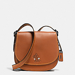 COACH F38421 Mickey Saddle 23 In Glovetanned Leather DK/1941 SADDLE