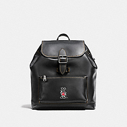 COACH F38422 Mickey Rainger Backpack BLACK/DARK GUNMETAL