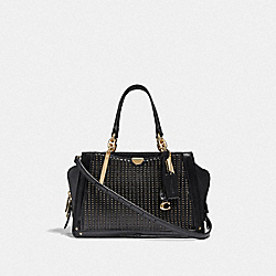COACH F38541 Dreamer With Quilting And Rivets GD/BLACK