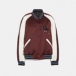 COACH F38564 Reversible Cloud Souvenir Jacket BURGUNDY/MULTI