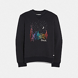 COACH F38597 City Sky Sweatshirt BLACK