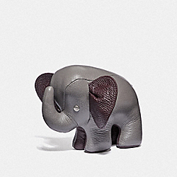 COACH F38617 Elephant Paperweight HEATHER GREY/BLACK ANTIQUE NICKEL