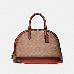 COACH F38626 - QUINN SATCHEL IN SIGNATURE CANVAS B4/TAN RUST