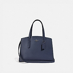 CHARLIE CARRYALL WITH CRYSTAL RIVETS - F38629 - CADET/GUNMETAL