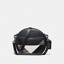 CANTEEN CROSSBODY WITH PATCHWORK AND SNAKESKIN DETAIL - F38668 - V5/BLACK MULTI