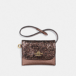 COACH F38671 Card Pouch BRONZE/LIGHT GOLD