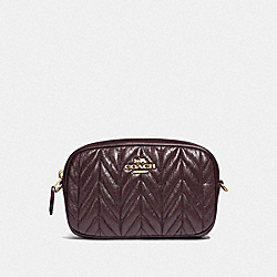COACH F38678 Convertible Belt Bag With Quilting OXBLOOD/GOLD