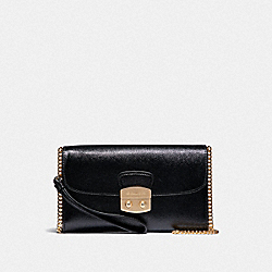 COACH F38683 Avary Chain Crossbody BLACK/LIGHT GOLD