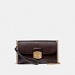 COACH F38683 Avary Chain Crossbody OXBLOOD 1/LIGHT GOLD