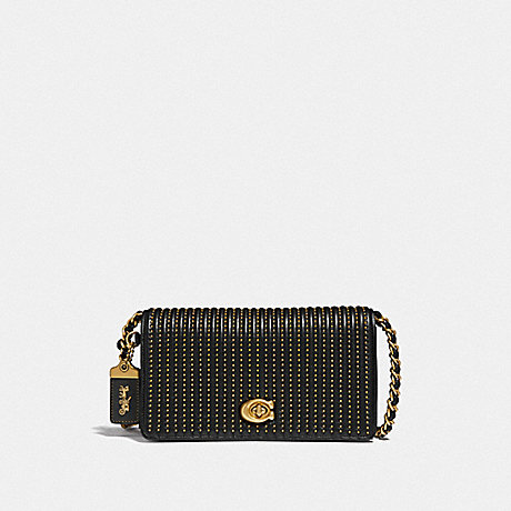 COACH F38729 DINKY WITH QUILTING AND RIVETS B4/BLACK
