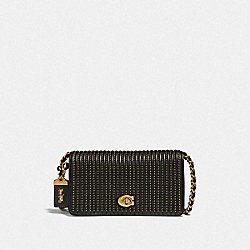 COACH F38729 - DINKY WITH QUILTING AND RIVETS B4/BLACK