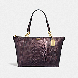 COACH F38736 Ava Tote OXBLOOD 1/LIGHT GOLD
