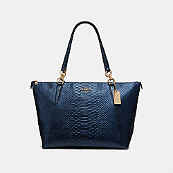 AVA TOTE - F38736 - IM/METALLIC DENIM