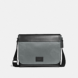 COACH F38741 - MESSENGER HEATHER GREY/BLACK ANTIQUE NICKEL