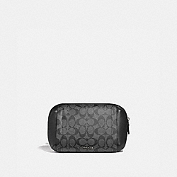 COACH F38749 Graham Utility Pack In Signature Canvas CHARCOAL/BLACK/BLACK ANTIQUE NICKEL