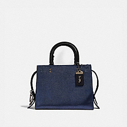 COACH F38823 - ROGUE 25 WITH SNAKESKIN DETAIL METALLIC BLUE/PEWTER