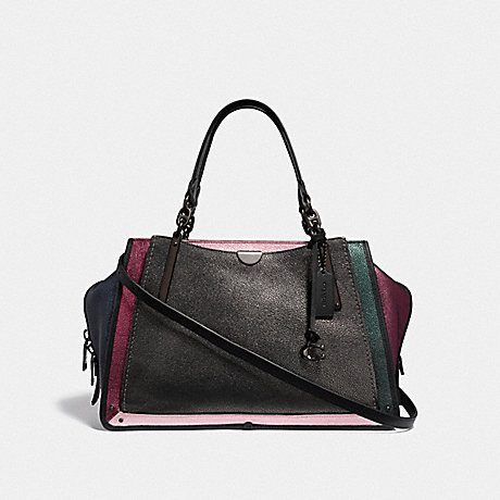 COACH F38842 DREAMER 36 IN COLORBLOCK METALLIC GRAPHITE MULTI/PEWTER