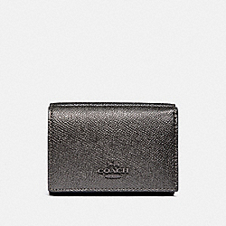 COACH F38871 Small Flap Wallet In Colorblock METALLIC GRAPHITE MULTI/GUNMETAL