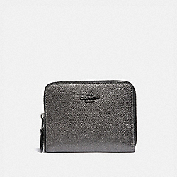 COACH F38872 - SMALL ZIP AROUND WALLET GM/METALLIC GRAPHITE