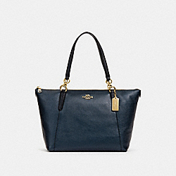AVA TOTE - F38878 - METALLIC DENIM/LIGHT GOLD