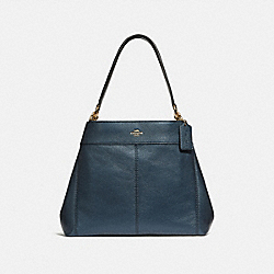 LEXY SHOULDER BAG - F38879 - METALLIC DENIM/LIGHT GOLD