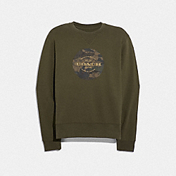 COACH F38884 - MIXED CAMO SWEATSHIRT MOSS