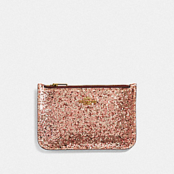 ZIP CARD CASE - F38921 - GD/METALLIC ROSEGOLD