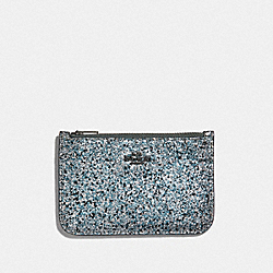 COACH F38921 Zip Card Case METALLIC GRAPHITE/GUNMETAL